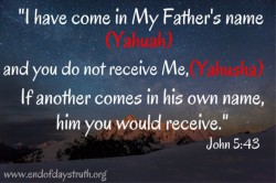names of the father and the son end of days truth